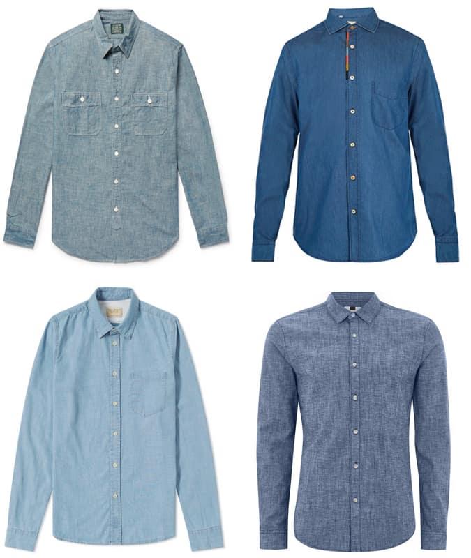 Les meilleures chemises en chambray pour hommes