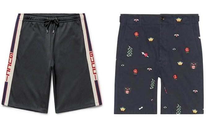 Le meilleur short Gucci pour homme