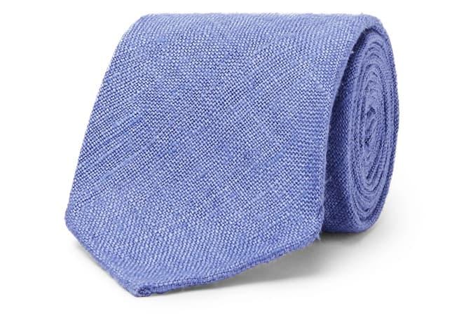 DRAKE'S Cravate en soie flammée de 8 cm