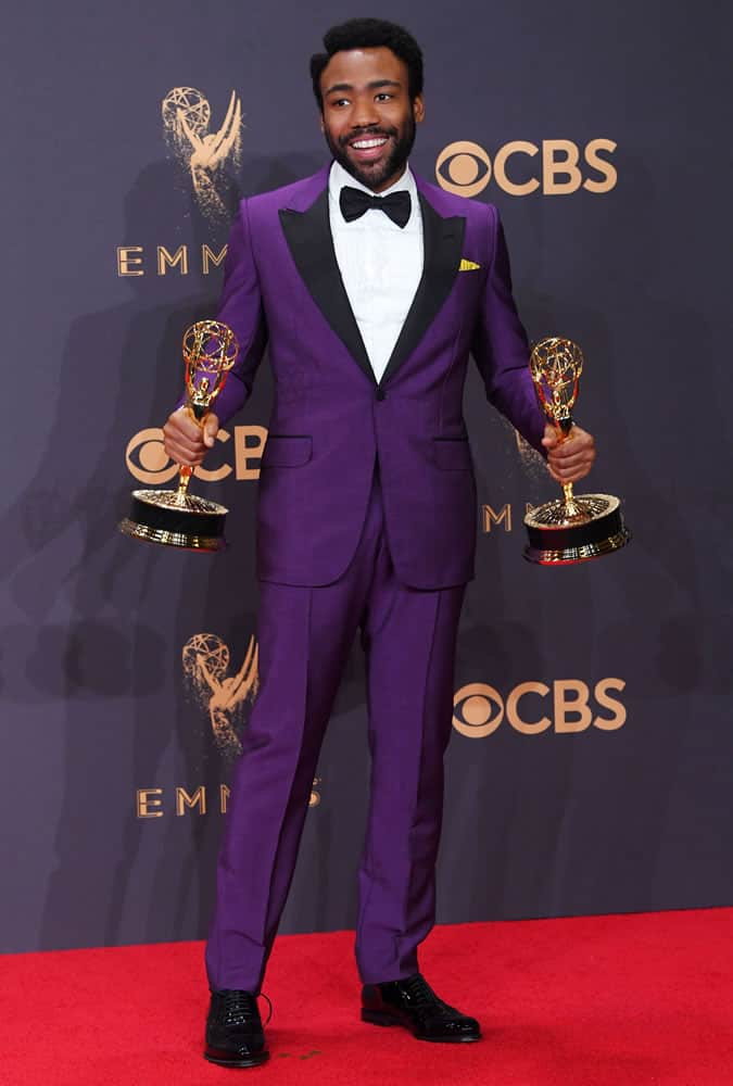 Donald Glover Wearing A Purple Suit