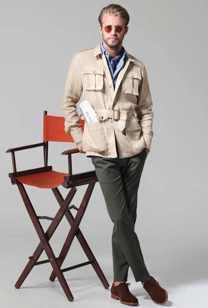 veste safari avec poches par Ovadia & Sons