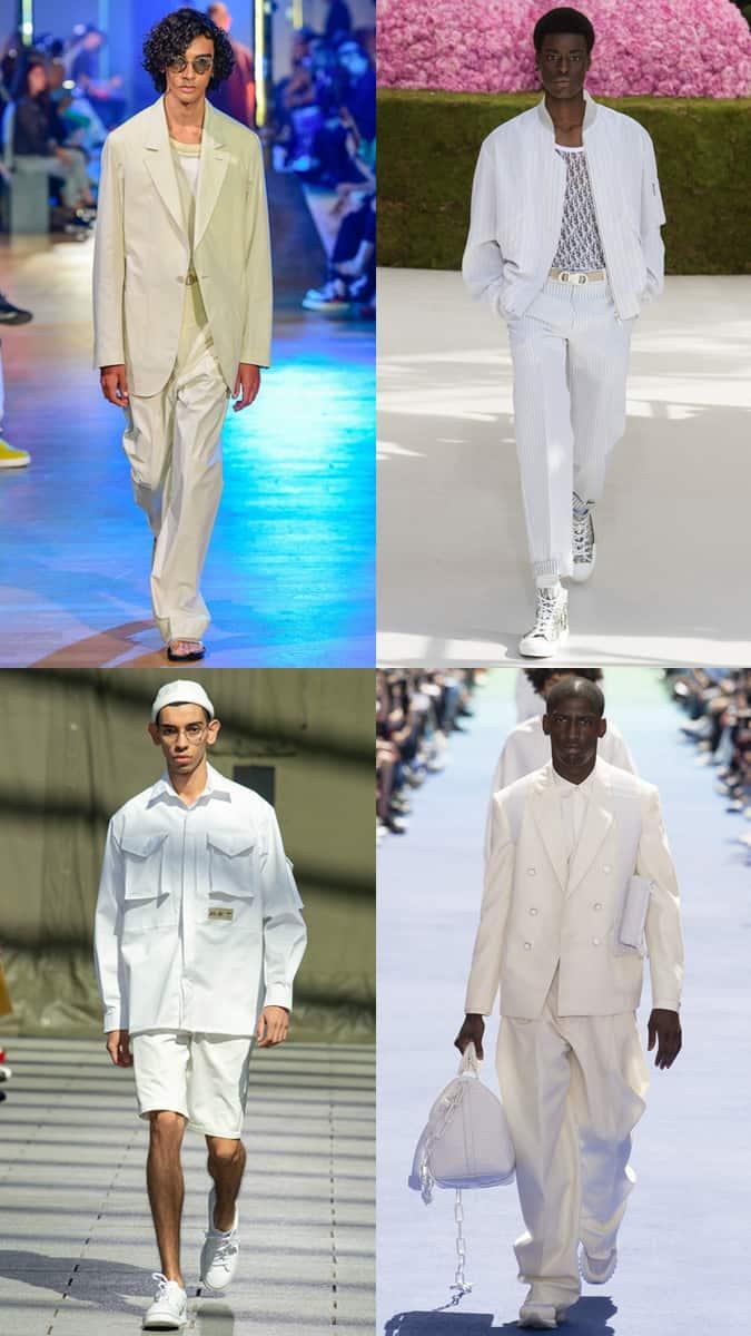 Blanc et crème à la Fashion Week masculine SS19