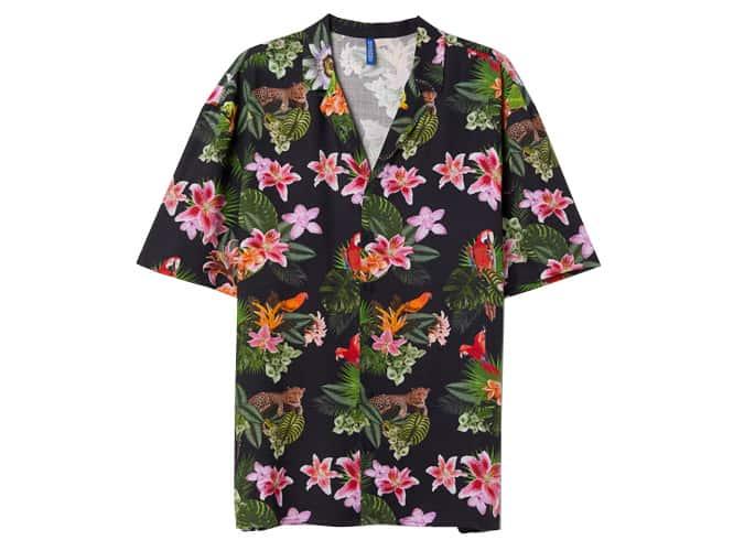 Chemise à motifs resort