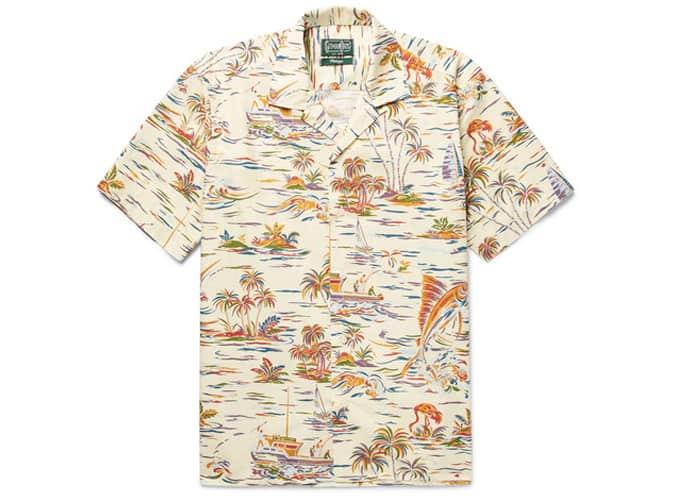 Chemise à col camp Gitman Vintage