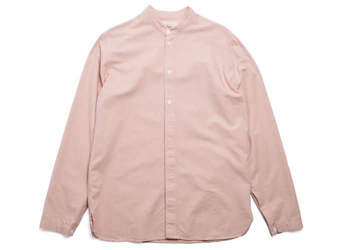 Chemise grand-père demi-patte - Rose plâtre