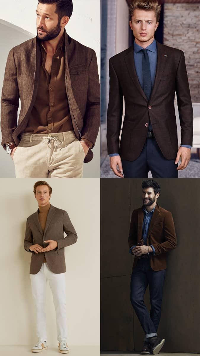 How To Wear A Brown Blazer