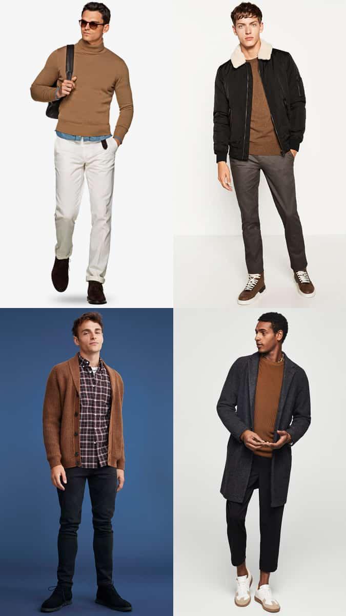Comment porter un pull marron