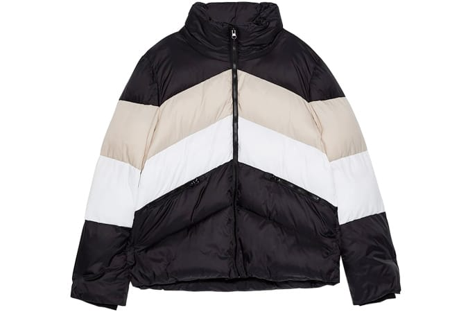 Zara COLOUR BLOCK PUFFER JACKET