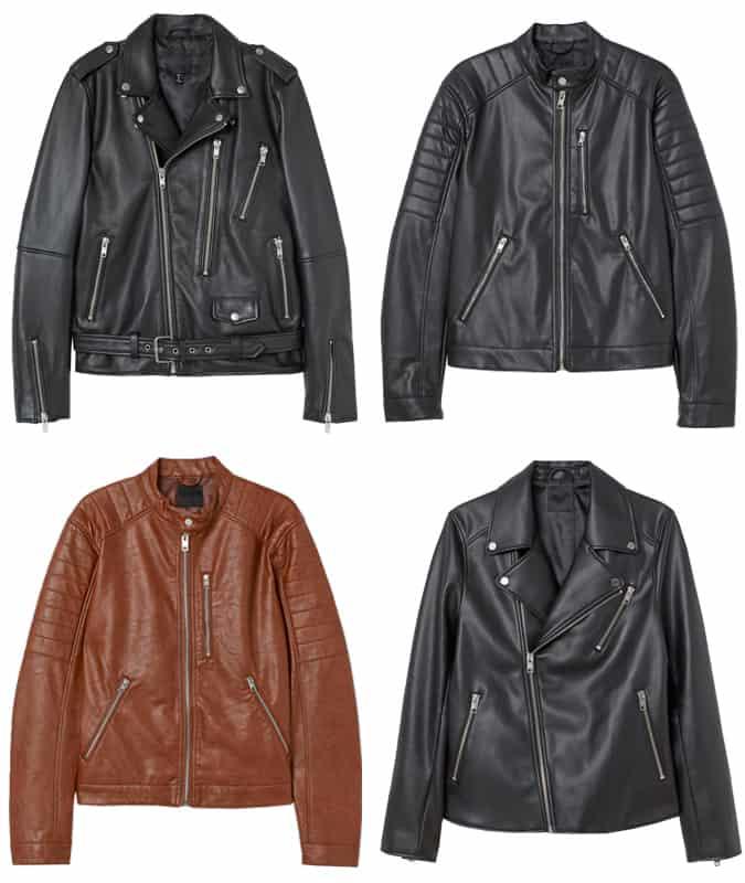 Les meilleures vestes en cuir H&M