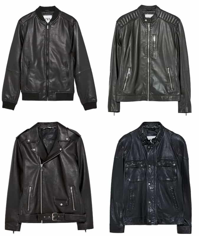 Les meilleures vestes en cuir Zara