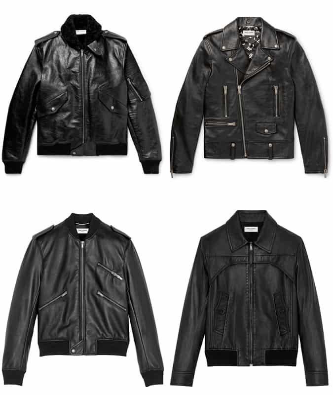 Les meilleures vestes en cuir Saint Laurent