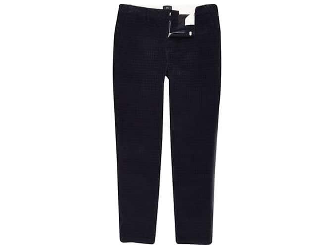 Pantalon skinny bleu marine à carreaux
