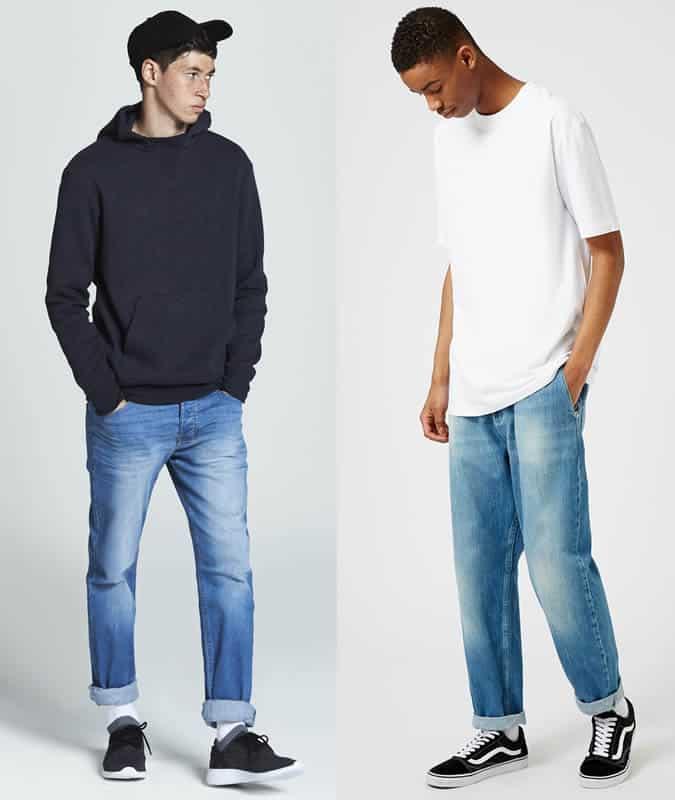 Comment porter un jean mi-délavé avec un look patineur