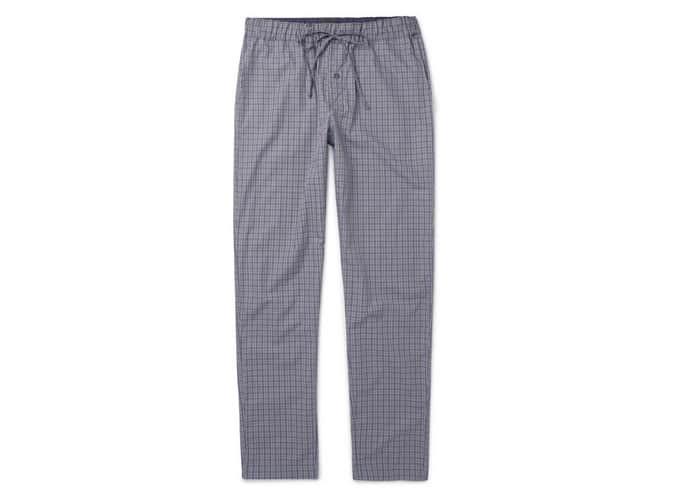 Pantalon de pyjama en coton à carreaux HANRO