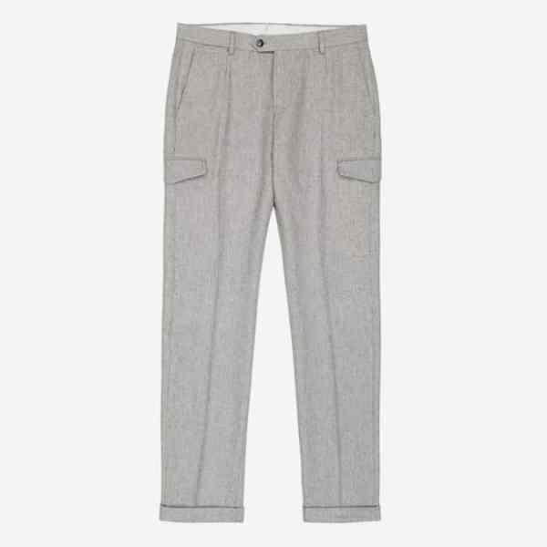 Pantalon en flanelle à motif militaire Regiment