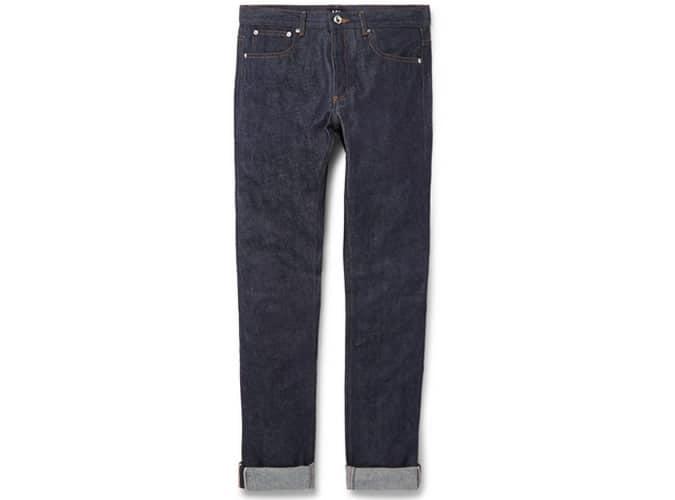 APC Petit Standard Jean slim en denim à lisière sèche