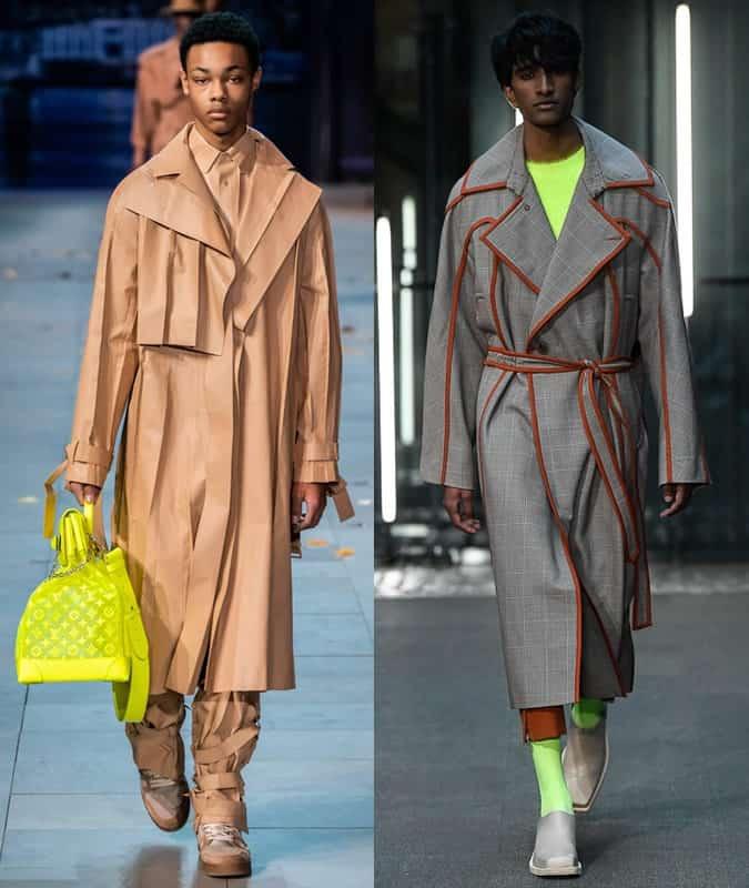 Louis Vuitton et Prononcer des trench coats AW19