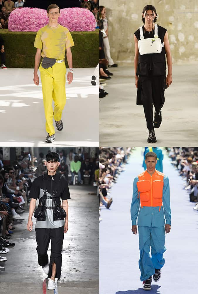 Défilés de mode avec des coffres