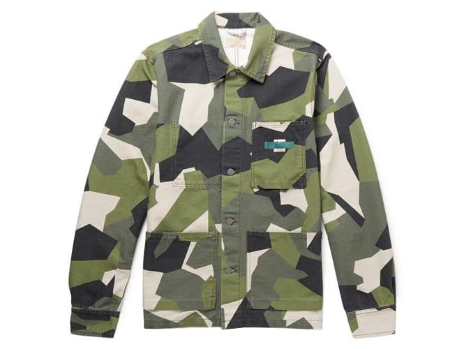 NUDIE JEANS Veste en coton bio à imprimé camouflage Paul