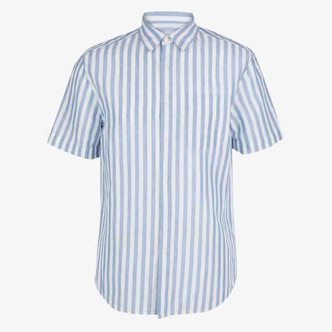 Chemise à rayures riches en lin