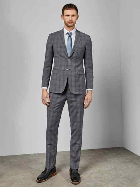 Pantalon à carreaux en laine Flydebt Debonair
