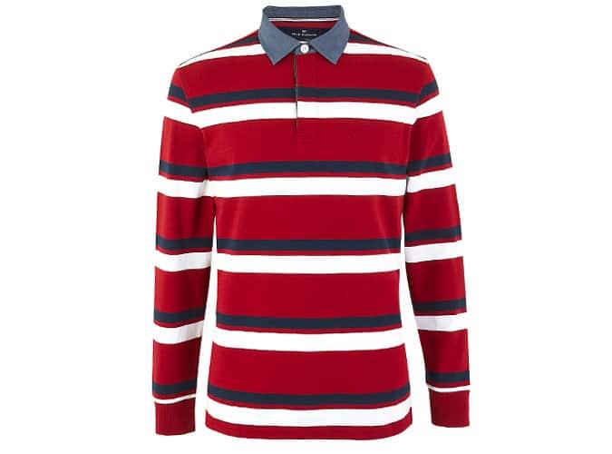 BLUE HARBOR Haut de rugby à rayures en pur coton
