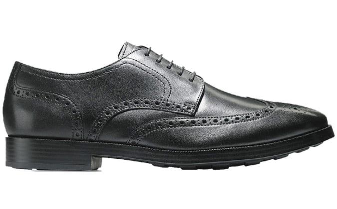 Chaussure noire Jefferson Grand Wingtip Oxford