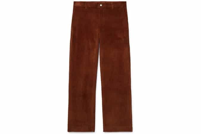 Pantalon Mike en coton et velours côtelé SÉFR