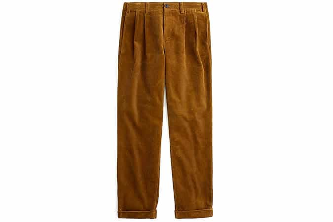 Pantalon large en velours côtelé Wallace & Barnes
