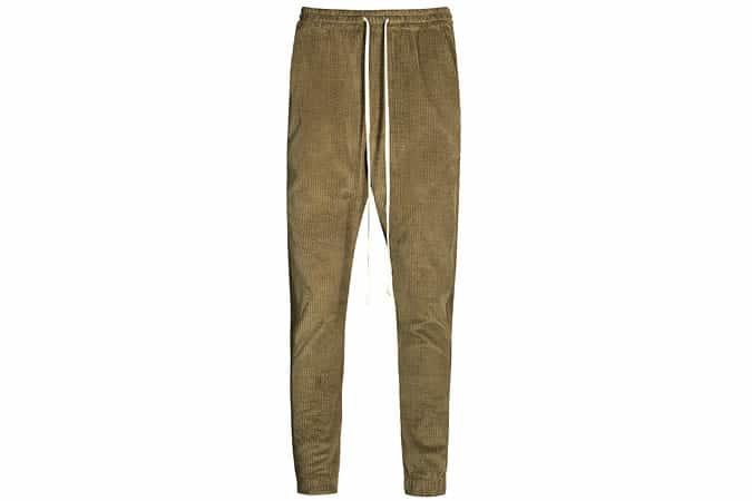 TWENTY Pantalon de jogging en coton et velours côtelé Champlain