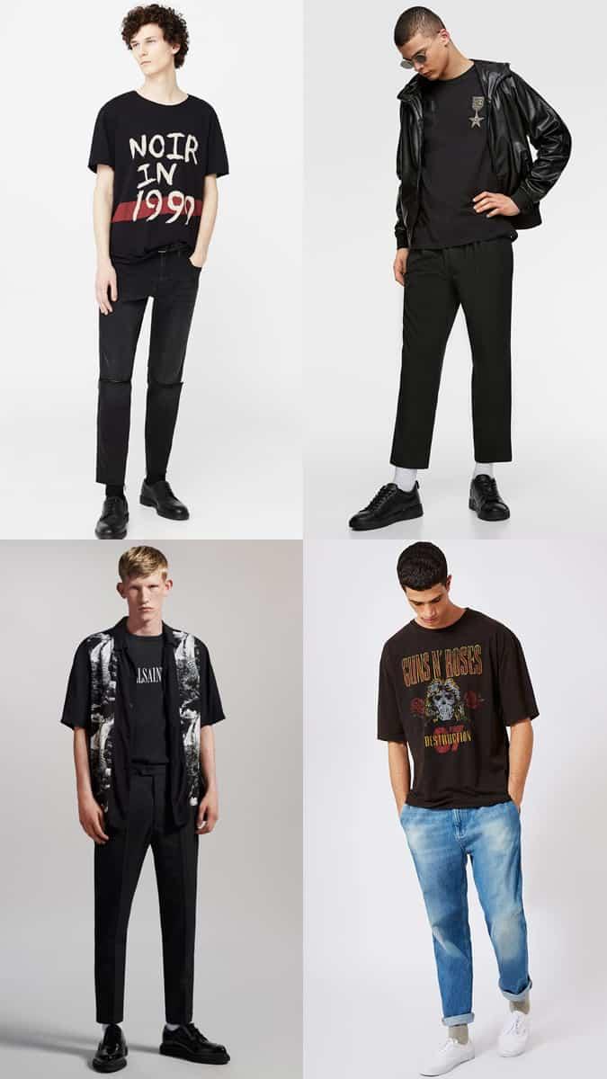 Tenues de t-shirt noir