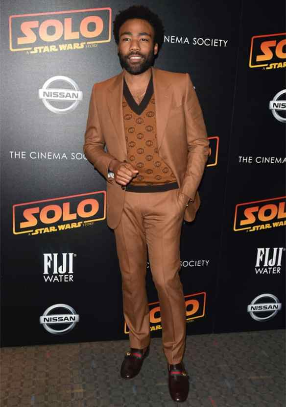 Donald Glover in Brown Suit