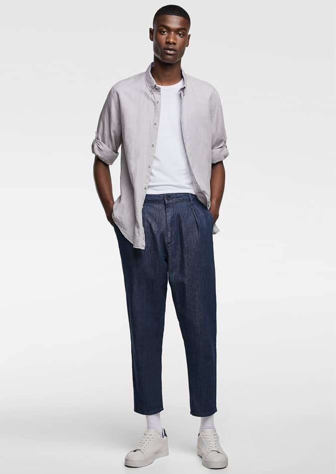 Lookbook de chemise en lin Zara
