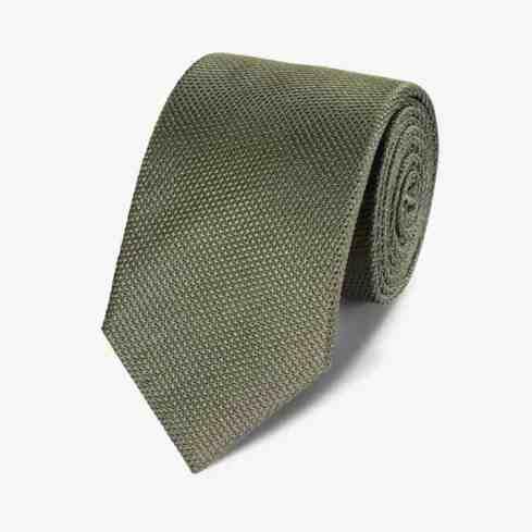 charles tyrwhitt Cravate classique unie en soie olive