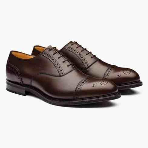 Waltham Nevada Leather Oxford Brogue Ebony