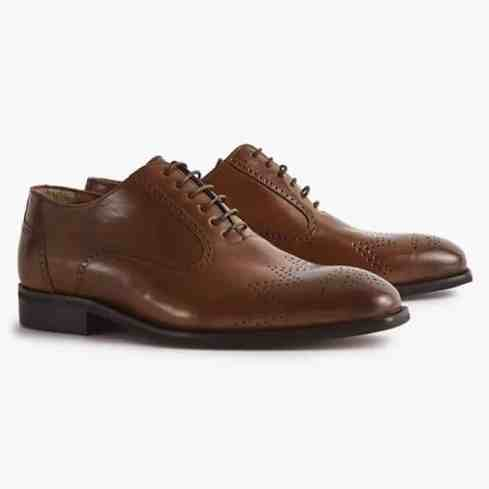reiss RILEY LEATHER OXFORD BROGUES
