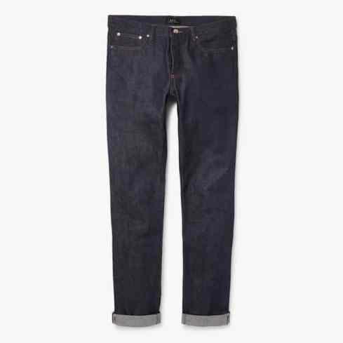 APC Petit - Nouveau jean en denim à lisière sèche coupe standard