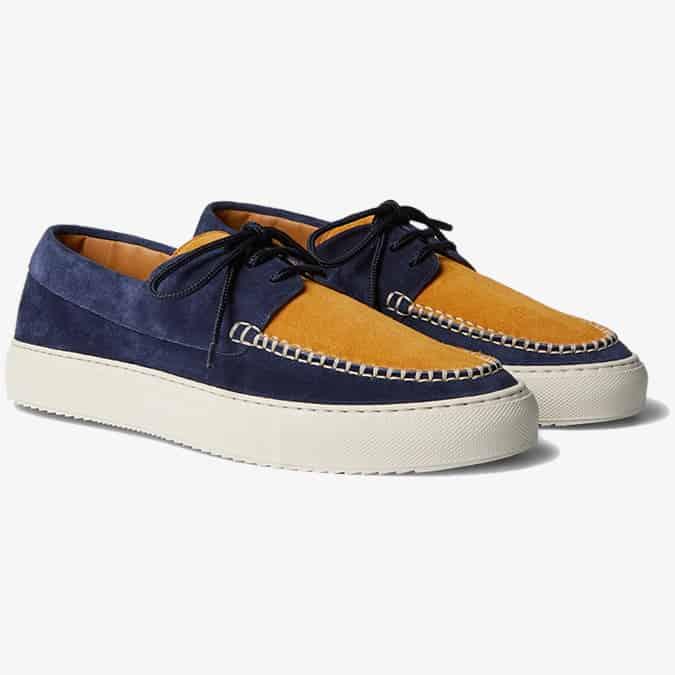 MR P. Dennis - Chaussures bateau en daim bicolore
