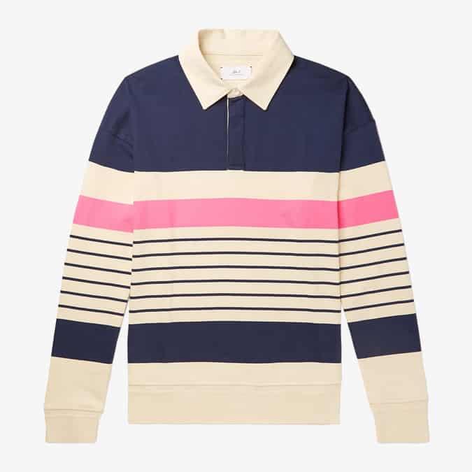 Chemise de rugby en jersey de coton à rayures en sergé MR P.