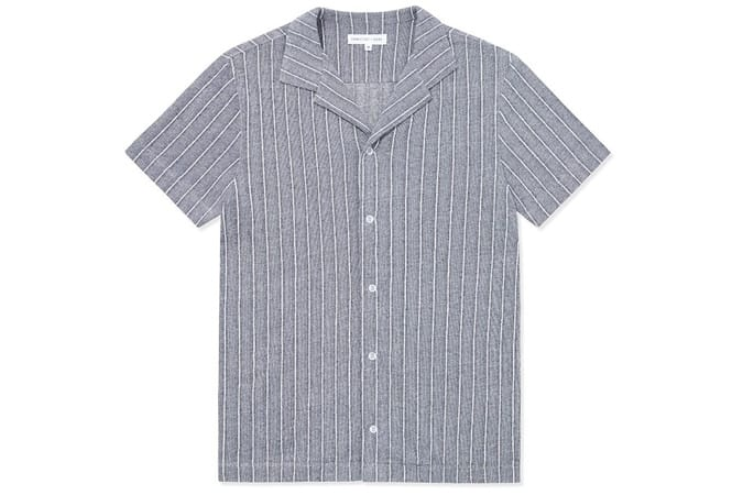 Chemise à col ouvert Decking Stripe - Marine