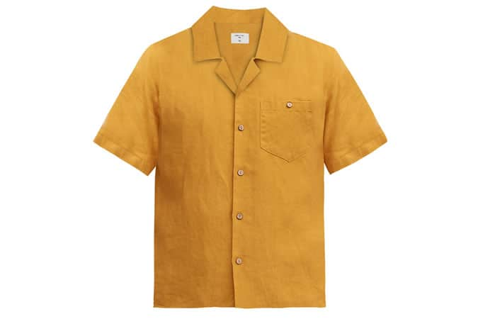 Chemise à manches courtes cubaine