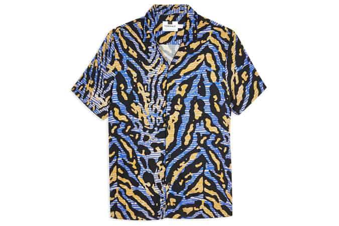 Chemise bleue Tiger Revere