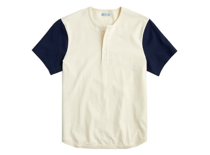 Wallace & Barnes short-sleeve baseball henley
