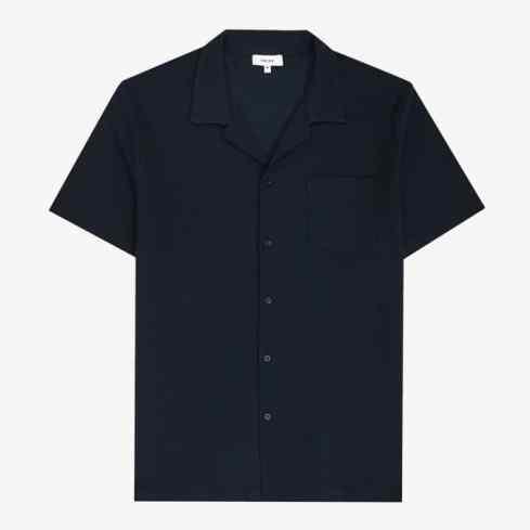 Chemise à col cubain texturée Reiss