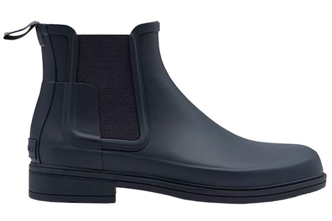 Men's Refined Slim Fit Chelsea Boots: Navy
