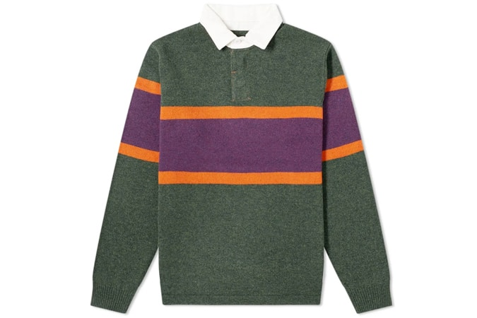 BEAMS PLUS KNIT RUGBY SHIRT
