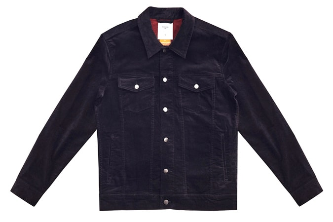 Western Jacket Black Cotton Suede