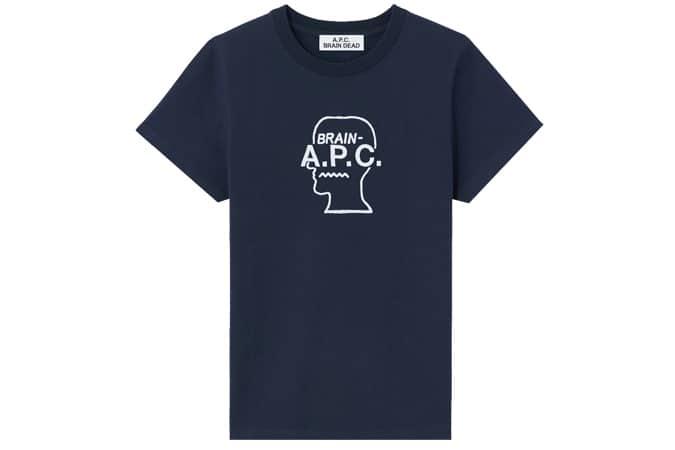 A.P.C. x Brain Dead Spooky T-Shirt - Dark Navy