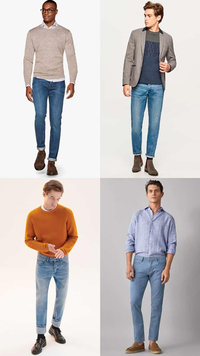 Comment porter un jean délavé léger pour travailler
