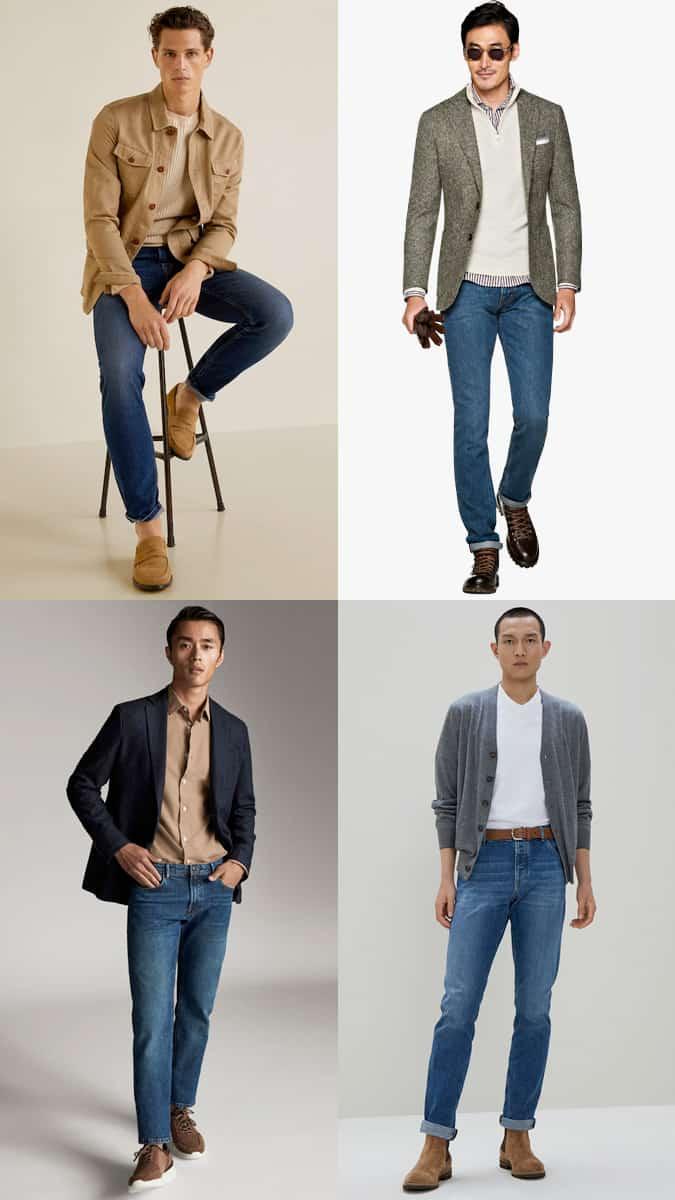 Comment porter un jean mi-délavé au travail